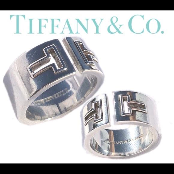 cb63d39cb Tiffany & Co. Jewelry | Tiffany Co Thick T Ring | Poshmark